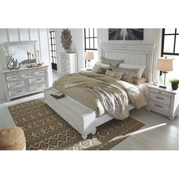 Kanwyn California King Panel Bed With Storage Bench