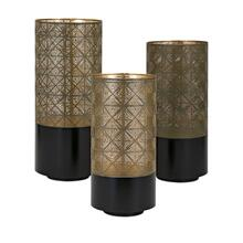 Manhattan Pierced Lanterns - Set of 3