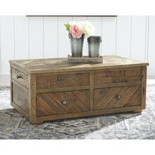 Grindleburg Rect Lift Top Cocktail Table Grayish Brown