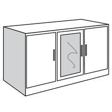 "See Details - Base Unit, 3-Door TV Console with 2 Adjustable Shelves Behind Each Door, 48""w"
