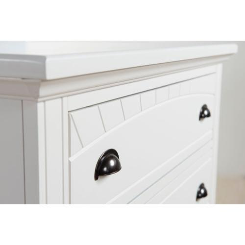 Brook White Bedroom - Full Bed, Dresser, Mirror, Chest, and Night Stand