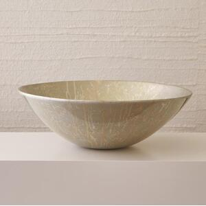 Grand Bowl-Champagne Silver Leaf