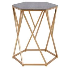 Cressa Faux Shagreen End Table, Chronicle Gray
