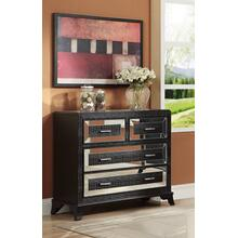 4-drawer Chest, Black