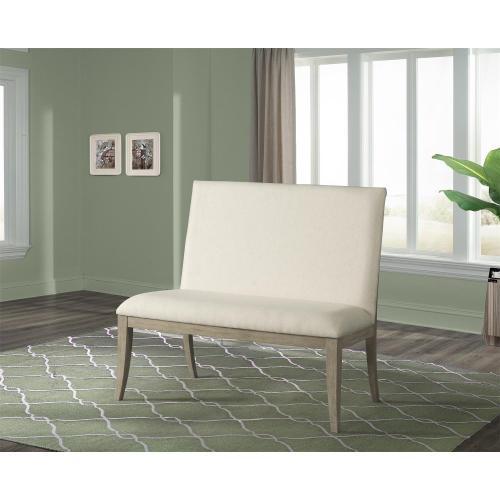 Sophie - Upholstered Dining Bench - Natural Finish