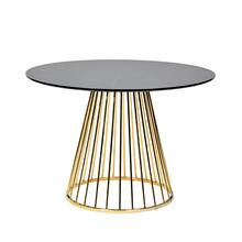 Modrest Holly Modern Black & Gold Round Dining Table
