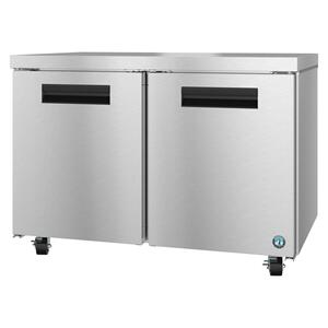 HoshizakiUF48A, Freezer, Two Section Undercounter, Stainless Doors