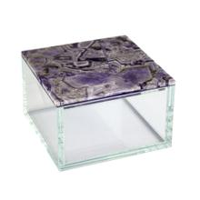 Purple Agate Top Glass Box