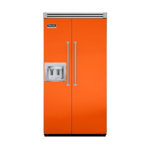 "Viking - Pumpkin 42"" Quiet Cool™ Side-by-Side with Dispenser - VISB Tru-Flush™ (42"" wide)"