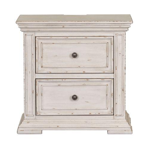 Gallery - 2 Drawer Night Stand w/ Charging Station