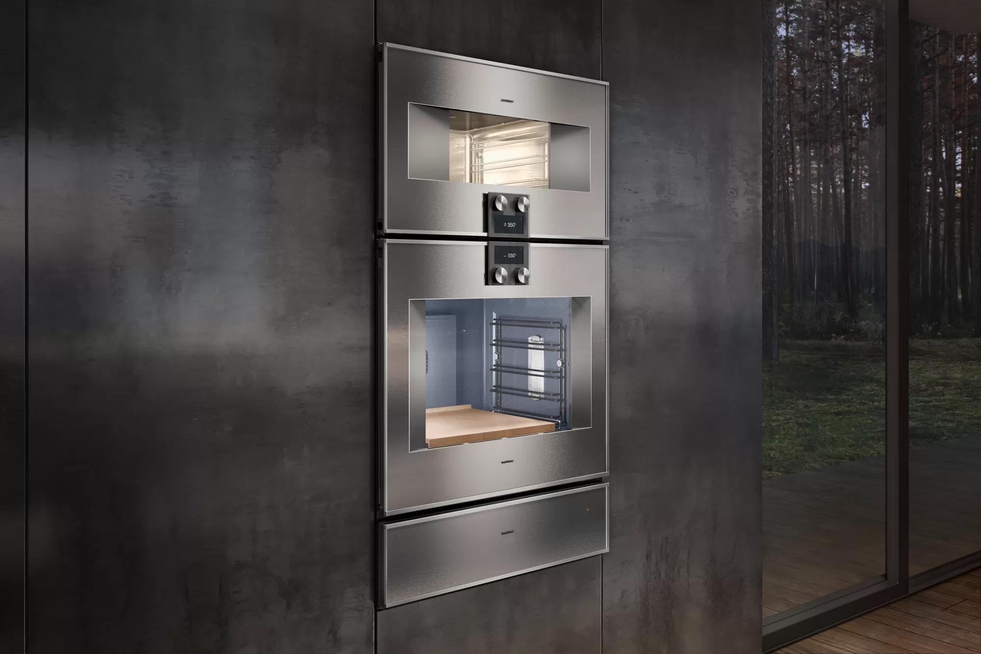 400 Series Oven 30'' Door Hinge: Left, Door Hinge: Left, Stainless Steel Behind Glass Photo #5