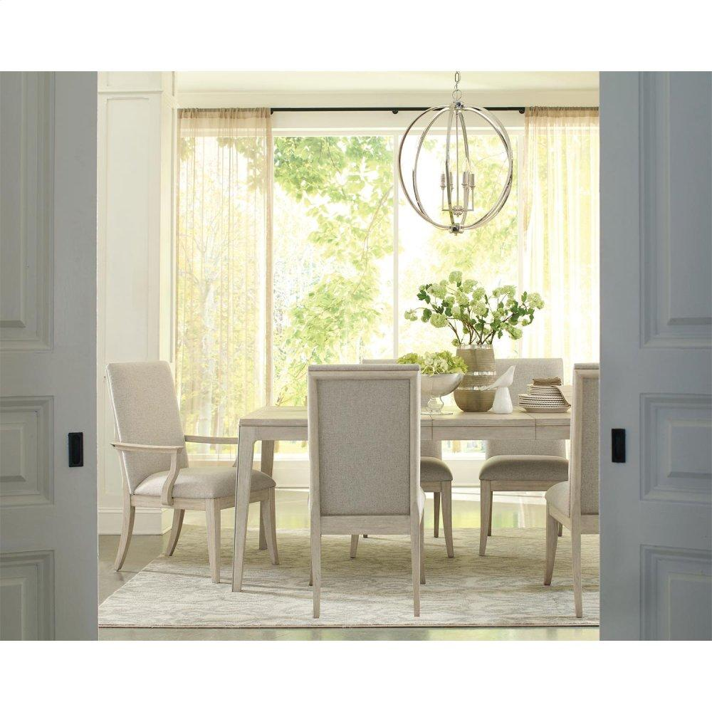 See Details - Lilly - Upholstered Side Chair - Champagne Finish