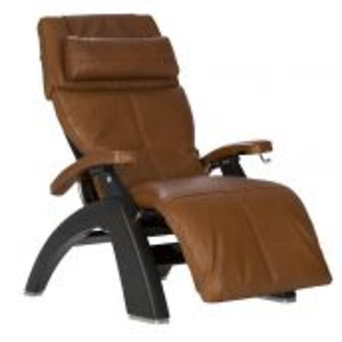 Human Touch - Perfect Chair ® PC-420 Classic Manual Plus - Matte Black - Cognac Premium Leather