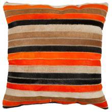 Quinn Pillow - Orange / Tan