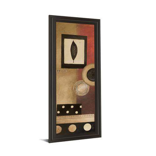 """Classy Art - """"Radius Panel I"""" By Kimberly Poloson Framed Print Wall Art"""