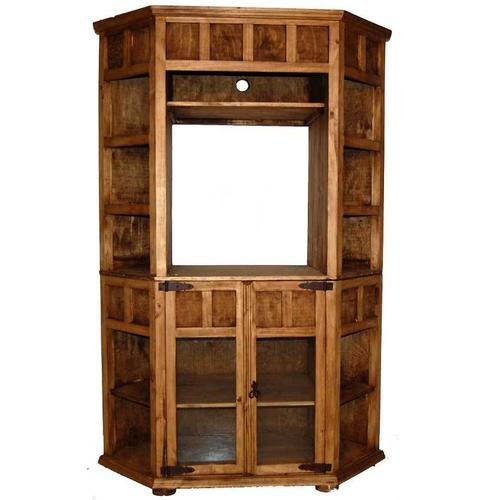 Small Corner TV Bookcase