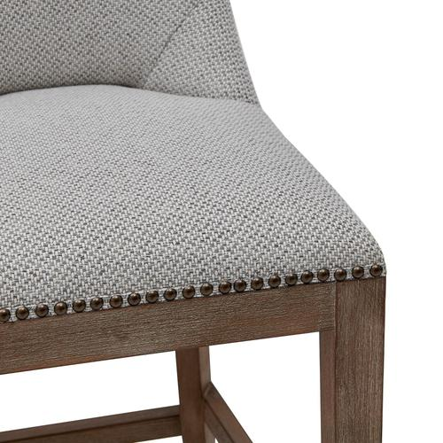 Dorsey Fabric Counter Stool Drift Wood Legs, Cardiff Gray