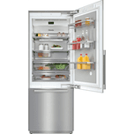 MieleKF 2801 SF - MasterCool(TM) fridge-freezer For high-end design and technology on a large scale.