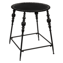 Distressed Black Spindle Leg Table