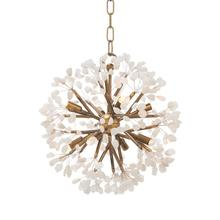 Ceres: Quartz Crystal Spherical Eight-Light Chandelier