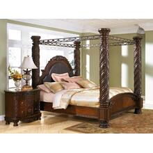 North Shore - Dark Brown 5 Piece Bed (King)