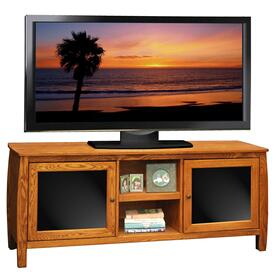 The Curve 60inch Console Golden Oak