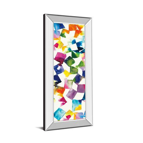 "Classy Art - ""Colorful Cubes Il"" By Wild Apple Portfolio Mirror Framed Print Wall Art"