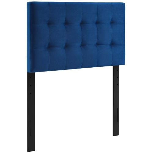 Modway - Lily Biscuit Tufted Twin Performance Velvet Headboard in Navy