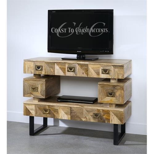 Coast To Coast Imports - Coast to Coast 7 Drawer TV Stand