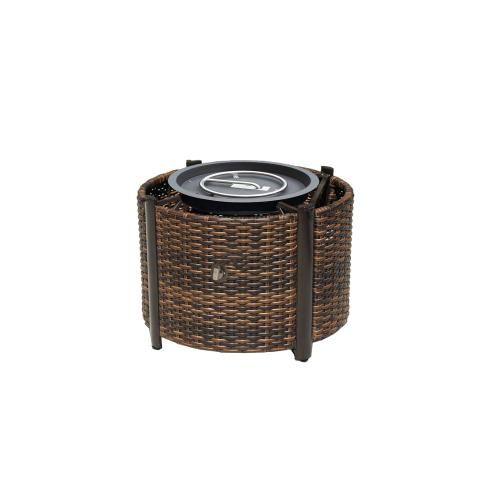 "Elba Round Fire Pit Base w/Burner for 42"" x 48"" Round Top"