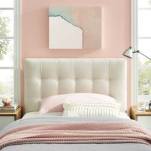 View Product - Lily Twin Upholstered Fabric Headboard in Ivory