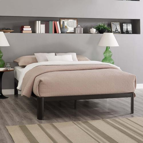 Modway - Corinne King Bed Frame in Brown