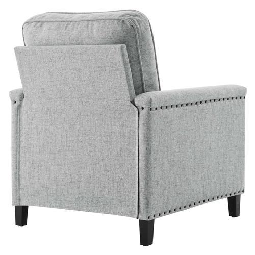 Modway - Ashton Upholstered Fabric Armchair in Light Gray