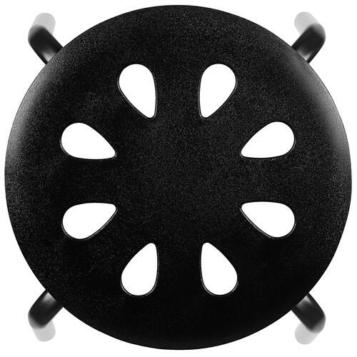 "Flash Furniture - Plastic Nesting Stack Stools, 17.5""Height, Black (5 Pack)"
