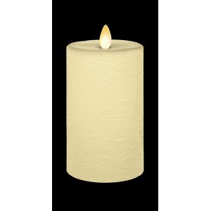 LED Textured Wax Pillar Candle