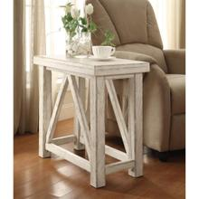 Product Image - Aberdeen - Chairside Table - Weathered Worn White Finish