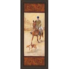 """On The Hunt Il"" By Linda Wacaster Framed Print Wall Art"