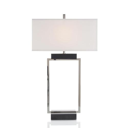 Rectangle in Black and Nickel Table Lamp