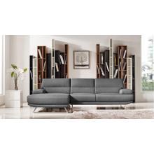 Divani Casa Trinidad Modern Grey Fabric Sectional Sofa