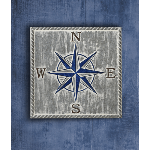 Embossed Compass Wall Decor