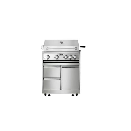 Thor Kitchen - 32 Inch 4-burner Gas BBQ Grill With Rotisserie In Stainless Steel