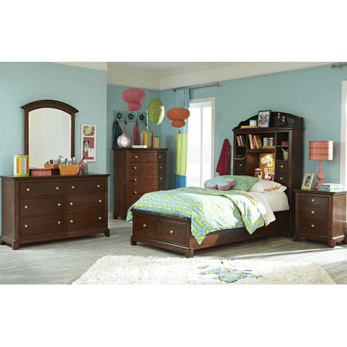 Impressions Bookcase Bed with Storage Twin