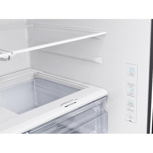 Product Image - 28 cu. ft. Large Capacity 3-Door French Door Refrigerator with Internal Water Dispenser in Black Stainless Steel