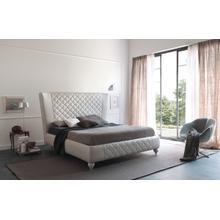 Estro Salotti Nathan Modern White Leather Bed