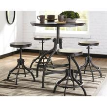 Odium Counter Height Table & 4 Bar Stools Brown