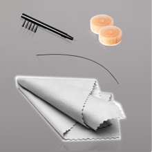 Includes brush and wax pick, cleaning rod, desiccant dryer, and microfiber cloth.