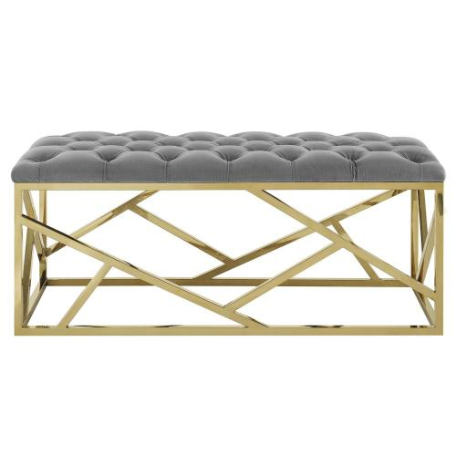 Intersperse Bench in Gold Gray