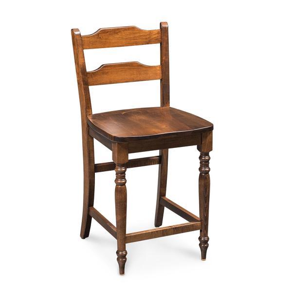 "Rachel Stationary Barstool, 30""h, Fabric Seat"