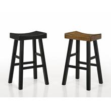 "Aruba Saddle Stool 29""h Black"