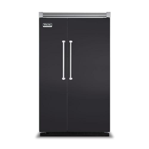 "Viking - Graphite Gray 48"" Side-by-Side Refrigerator/Freezer - VISB (Integrated Installation)"